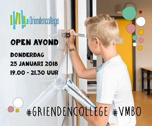 Griendencollege Open Avond 25 januari 2017