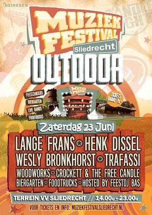 Muziekfestvial Outdoor terrein v.v. Sliedrecht