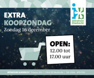 Intratuin Sliedrecht koopzondag 16 december 2018