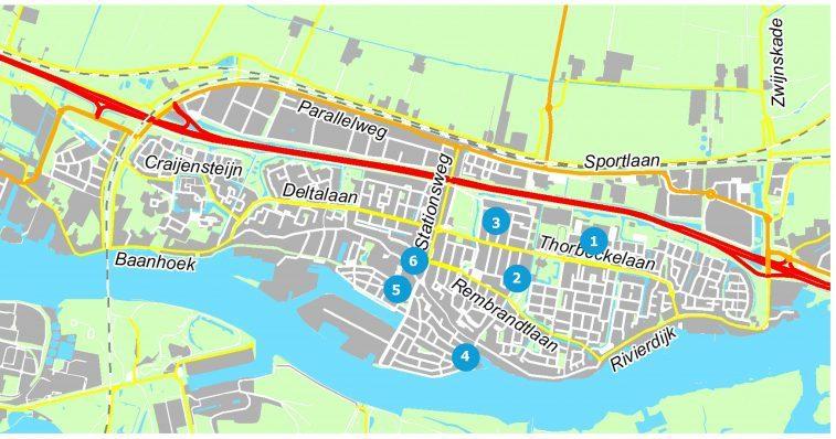 (Kaart gemeente Sliedrecht)